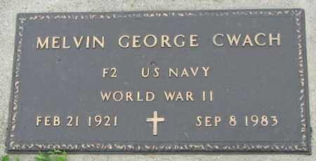 CWACH, MELVIN GEORGE (WW II) - Yankton County, South Dakota   MELVIN GEORGE (WW II) CWACH - South Dakota Gravestone Photos