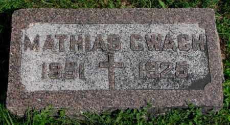 CWACH, MATHIAS - Yankton County, South Dakota | MATHIAS CWACH - South Dakota Gravestone Photos