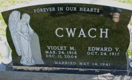 CWACH, VIOLET M. - Yankton County, South Dakota | VIOLET M. CWACH - South Dakota Gravestone Photos
