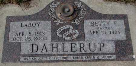 MARKUS DAHLERUP, BETTY E. - Yankton County, South Dakota | BETTY E. MARKUS DAHLERUP - South Dakota Gravestone Photos