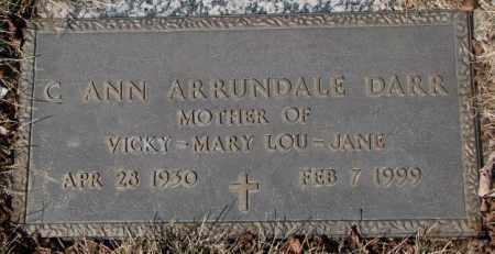 ARRUNDALE DARR, C. ANN - Yankton County, South Dakota   C. ANN ARRUNDALE DARR - South Dakota Gravestone Photos