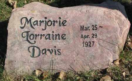 DAVIS, MARJORIE LORRAINE - Yankton County, South Dakota   MARJORIE LORRAINE DAVIS - South Dakota Gravestone Photos