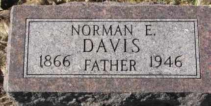 DAVIS, NORMAN E. - Yankton County, South Dakota | NORMAN E. DAVIS - South Dakota Gravestone Photos
