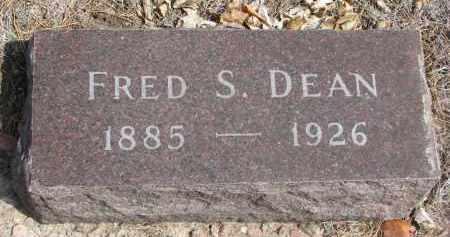DEAN, FRED S. - Yankton County, South Dakota | FRED S. DEAN - South Dakota Gravestone Photos