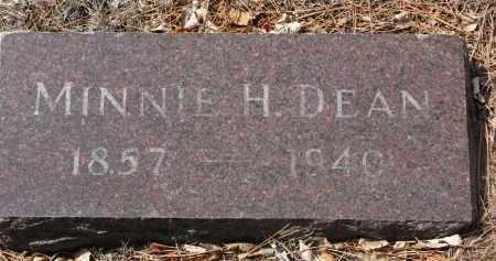 DEAN, MINNIE H. - Yankton County, South Dakota   MINNIE H. DEAN - South Dakota Gravestone Photos