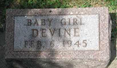 DEVINE, BABY GIRL - Yankton County, South Dakota | BABY GIRL DEVINE - South Dakota Gravestone Photos