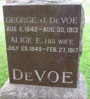 DEVOE, GEORGE J. - Yankton County, South Dakota | GEORGE J. DEVOE - South Dakota Gravestone Photos