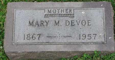 DEVOE, MARY M. - Yankton County, South Dakota | MARY M. DEVOE - South Dakota Gravestone Photos