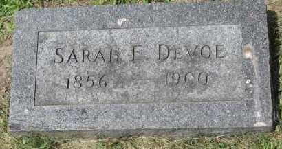 DEVOE, SARAH E. - Yankton County, South Dakota   SARAH E. DEVOE - South Dakota Gravestone Photos