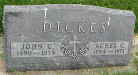 DICKES, AGNES C. - Yankton County, South Dakota | AGNES C. DICKES - South Dakota Gravestone Photos