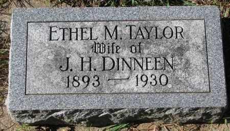 TAYLOR DINNEEN, ETHEL M. - Yankton County, South Dakota | ETHEL M. TAYLOR DINNEEN - South Dakota Gravestone Photos