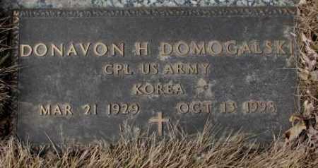 DOMOGALSKI, DONAVON H. - Yankton County, South Dakota | DONAVON H. DOMOGALSKI - South Dakota Gravestone Photos