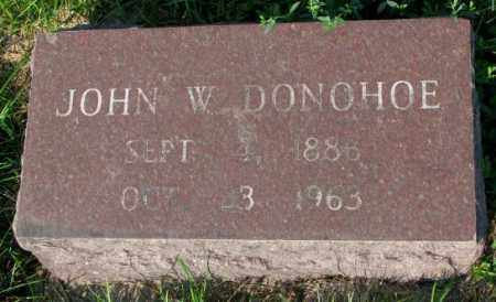 DONOHOE, JOHN W. - Yankton County, South Dakota | JOHN W. DONOHOE - South Dakota Gravestone Photos