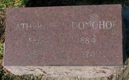 DONOHOE, KATHERINE F. - Yankton County, South Dakota   KATHERINE F. DONOHOE - South Dakota Gravestone Photos