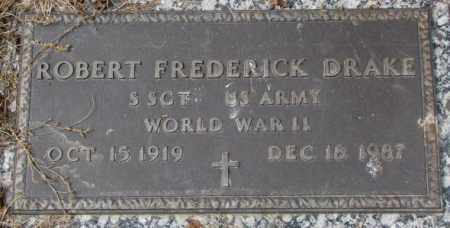 DRAKE, ROBERT FREDERICK - Yankton County, South Dakota | ROBERT FREDERICK DRAKE - South Dakota Gravestone Photos