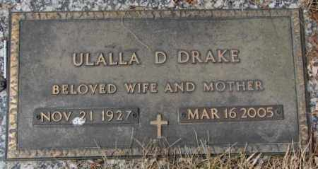 DRAKE, ULALLA D. - Yankton County, South Dakota | ULALLA D. DRAKE - South Dakota Gravestone Photos
