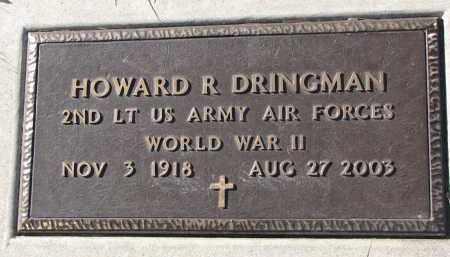 DRINGMAN, HOWARD R. - Yankton County, South Dakota | HOWARD R. DRINGMAN - South Dakota Gravestone Photos