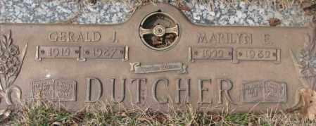 DUTCHER, GERALD J. - Yankton County, South Dakota | GERALD J. DUTCHER - South Dakota Gravestone Photos