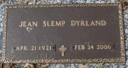 SLEMP DYRLAND, JEAN - Yankton County, South Dakota | JEAN SLEMP DYRLAND - South Dakota Gravestone Photos