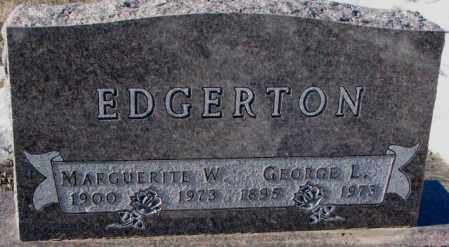 EDGERTON, MARGUERITE W. - Yankton County, South Dakota | MARGUERITE W. EDGERTON - South Dakota Gravestone Photos