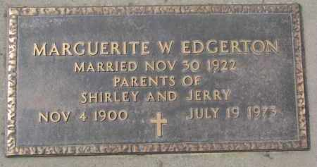EDGERTON, MARGUERITE W. - Yankton County, South Dakota | MARGUERITE W. EDGERTON - South Dakota Gravestone Photos