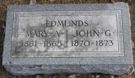 EDMUNDS, MARY A. - Yankton County, South Dakota | MARY A. EDMUNDS - South Dakota Gravestone Photos