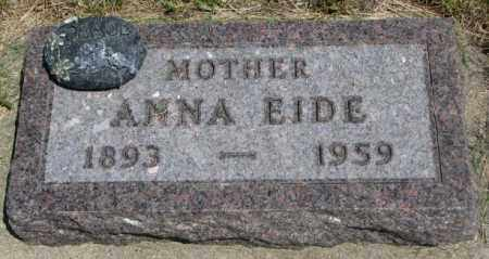 EIDE, ANNA - Yankton County, South Dakota | ANNA EIDE - South Dakota Gravestone Photos
