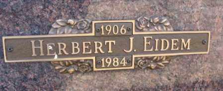 EIDEM, HERBERT J. - Yankton County, South Dakota | HERBERT J. EIDEM - South Dakota Gravestone Photos