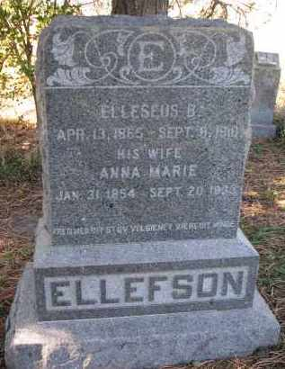 ELLEFSON, ELLESEUS B. - Yankton County, South Dakota | ELLESEUS B. ELLEFSON - South Dakota Gravestone Photos