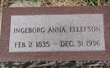 ELLEFSON, INGEBORG ANNA - Yankton County, South Dakota | INGEBORG ANNA ELLEFSON - South Dakota Gravestone Photos