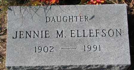 ELLEFSON, JENNIE M. - Yankton County, South Dakota | JENNIE M. ELLEFSON - South Dakota Gravestone Photos