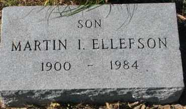 ELLEFSON, MARTIN I. - Yankton County, South Dakota   MARTIN I. ELLEFSON - South Dakota Gravestone Photos