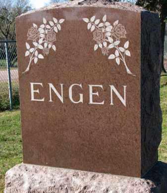 ENGEN, FAMILY STONE - Yankton County, South Dakota | FAMILY STONE ENGEN - South Dakota Gravestone Photos