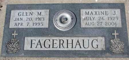 FAGERHAUG, GLEN M. - Yankton County, South Dakota | GLEN M. FAGERHAUG - South Dakota Gravestone Photos