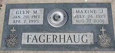 FAGERHAUG, MAXINE J. - Yankton County, South Dakota | MAXINE J. FAGERHAUG - South Dakota Gravestone Photos