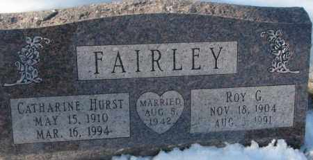 HURST FAIRLEY, CATHARINE - Yankton County, South Dakota | CATHARINE HURST FAIRLEY - South Dakota Gravestone Photos