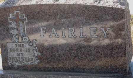 FAIRLEY, PLOT - Yankton County, South Dakota   PLOT FAIRLEY - South Dakota Gravestone Photos