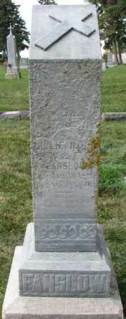 FANSLOW, LILLIE - Yankton County, South Dakota   LILLIE FANSLOW - South Dakota Gravestone Photos