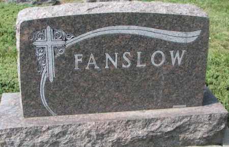 FANSLOW, PLOT - Yankton County, South Dakota | PLOT FANSLOW - South Dakota Gravestone Photos