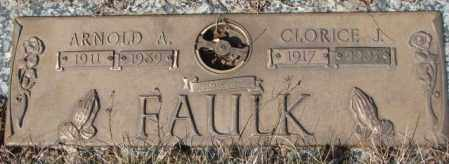 FAULK, ARNOLD A. - Yankton County, South Dakota | ARNOLD A. FAULK - South Dakota Gravestone Photos