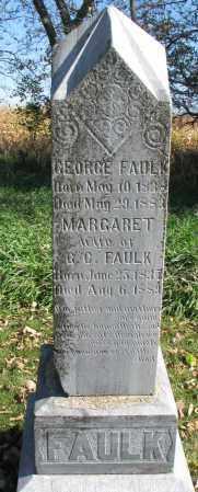 FAULK, GEORGE - Yankton County, South Dakota | GEORGE FAULK - South Dakota Gravestone Photos