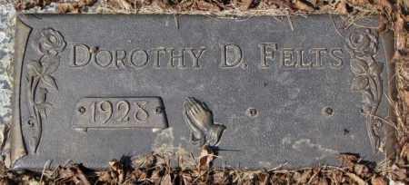 FELTS, DOROTHY D. - Yankton County, South Dakota   DOROTHY D. FELTS - South Dakota Gravestone Photos
