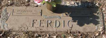 FERDIG, ROSANNA C. - Yankton County, South Dakota | ROSANNA C. FERDIG - South Dakota Gravestone Photos
