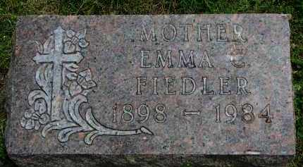 FIEDLER, EMMA C. - Yankton County, South Dakota | EMMA C. FIEDLER - South Dakota Gravestone Photos