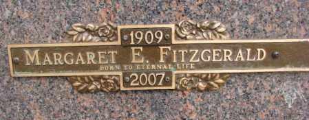 FITZGERALD, MARGARET E. - Yankton County, South Dakota   MARGARET E. FITZGERALD - South Dakota Gravestone Photos