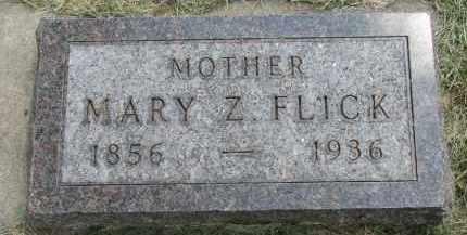 FLICK, MARY Z. - Yankton County, South Dakota   MARY Z. FLICK - South Dakota Gravestone Photos