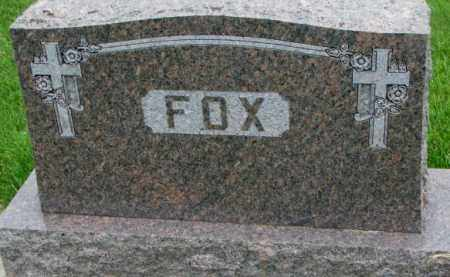 FOX, PLOT - Yankton County, South Dakota | PLOT FOX - South Dakota Gravestone Photos