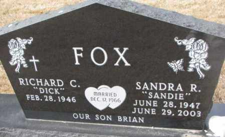 FOX, SANDRA R. - Yankton County, South Dakota | SANDRA R. FOX - South Dakota Gravestone Photos
