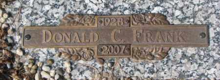 FRANK, DONALD C. - Yankton County, South Dakota | DONALD C. FRANK - South Dakota Gravestone Photos