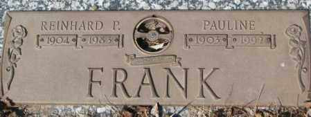 FRANK, REINHARD P. - Yankton County, South Dakota | REINHARD P. FRANK - South Dakota Gravestone Photos